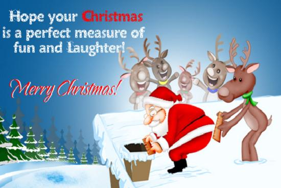 Funny Christmas Wishes greeting cards