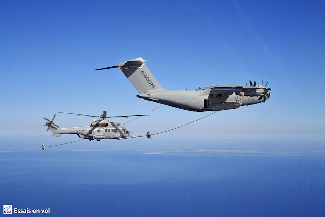 A400M first helicopter air refuelling