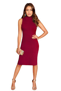 Body-Con-Women's-Knee-Length-Dress