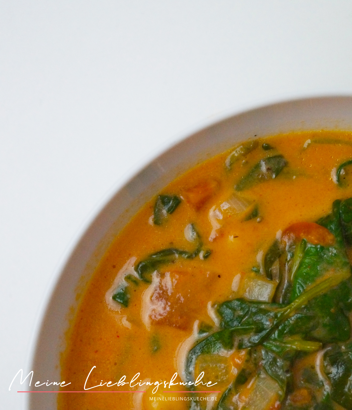 Curry Kichererbsen Eintopf mit Spinat
