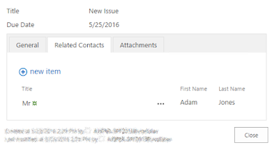 Linking related items to a SharePoint item after saving