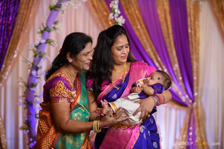 Indian Naming Ceremony Photography Northville Farmington Hills SudeepStudio.com Ann Arbor Indian Event Photographer
