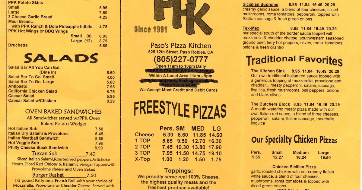 Attrayant Paso Pizza Kitchen Menu Ppi Blog Source Vc