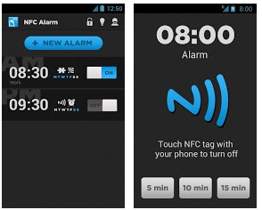 Alarm clock NFC for Android