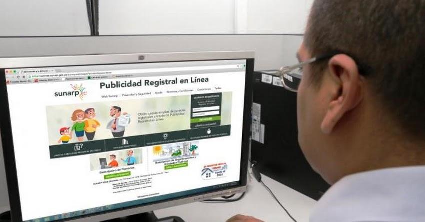 SUNARP: Ahora puedes solicitar certificados con firma electrónica vía internet - www.sunarp.gob.pe