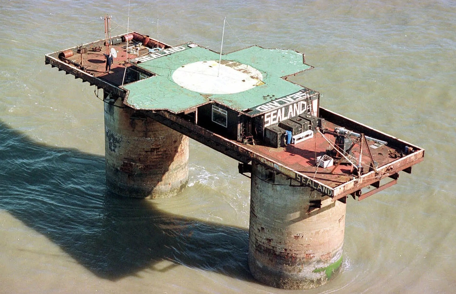 This Is The World's Smallest 'Nation', A Tiny Man-Made Platform Off The Coast Of The UK