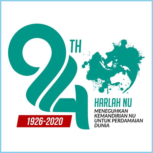 Harlah NU (Nahdlatul Ulama) ke 94 Tahun 2020 Logo - Free Download File Vector CDR AI EPS PDF PNG SVG
