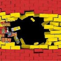 Bandera de España rota