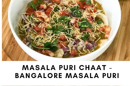 Masala Puri Chaat - Bangalore Masala Puri