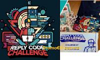 Logo Reply Code Challenge Teen Edition : 300 kit gadget omaggio