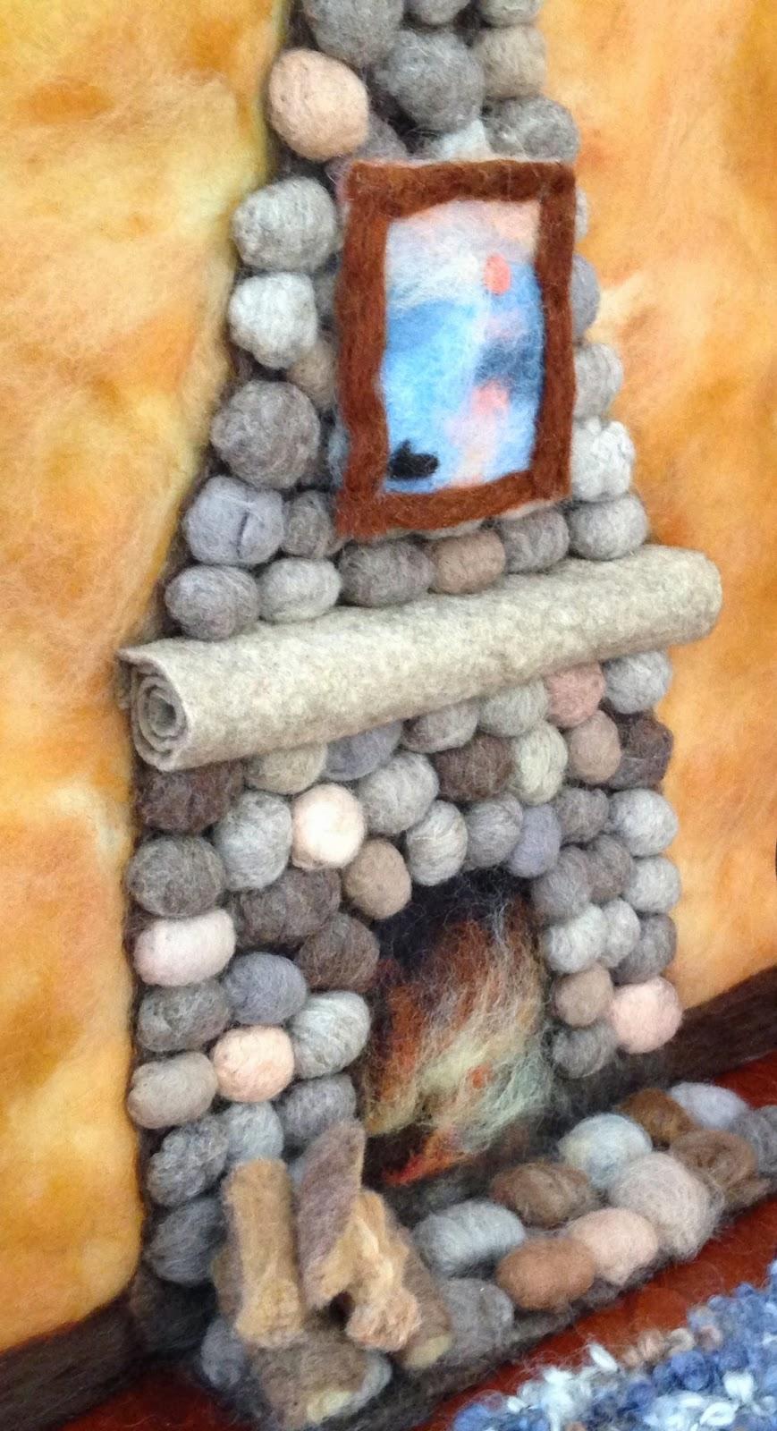 claudia marie felt how to create a wool fireplace for fireplace for wall fireplace for wall