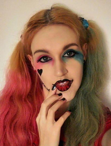 Makijaż na Halloween - Harley Quinn
