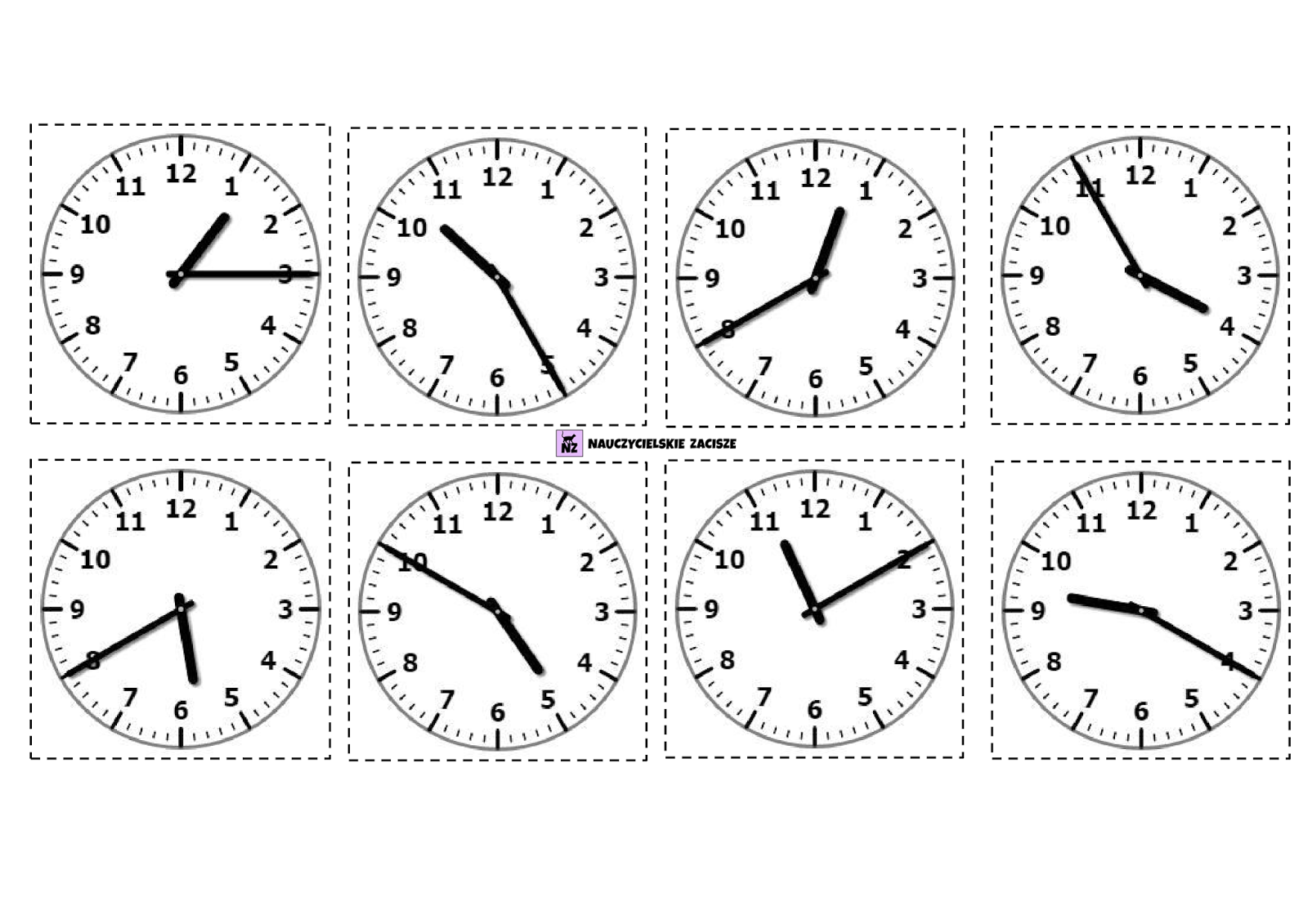Nauczycielskie Zacisze Czas Na Zegar Gry Do Druku
