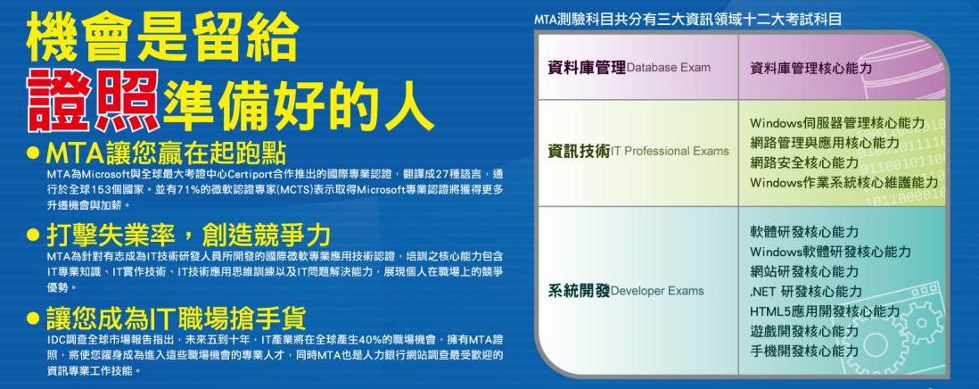 微軟教育計劃-MTA及MOS認證融入教學