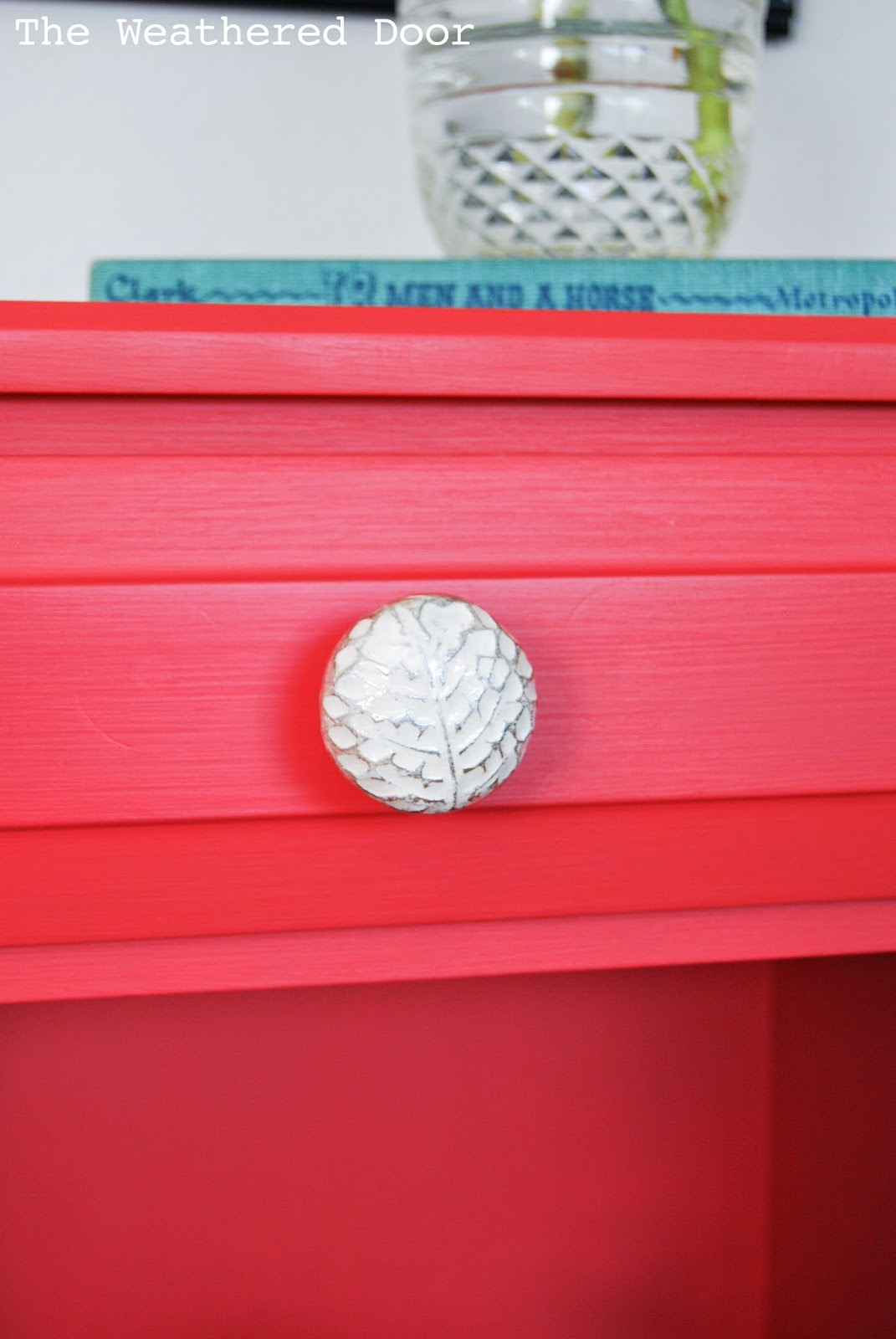 I Painted A Pair Of These Nightstands In Fun Poppy Red Color Custom Mixed The Paint Using Some General Finishes Milk Persimmon And