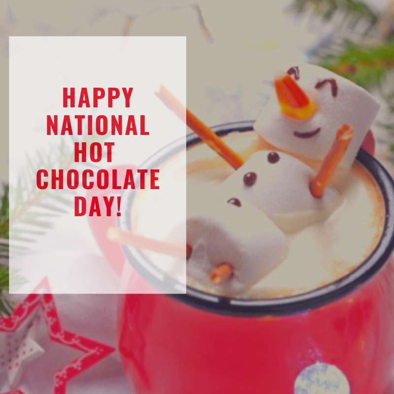 National Hot Chocolate Day Wishes Unique Image