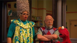 Chris, Elmo, Alan, Sesame Street Episode 4417 Grandparents Celebration season 44
