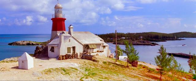 Treece's lighthouse exterior at Coney Island, Bermuda.