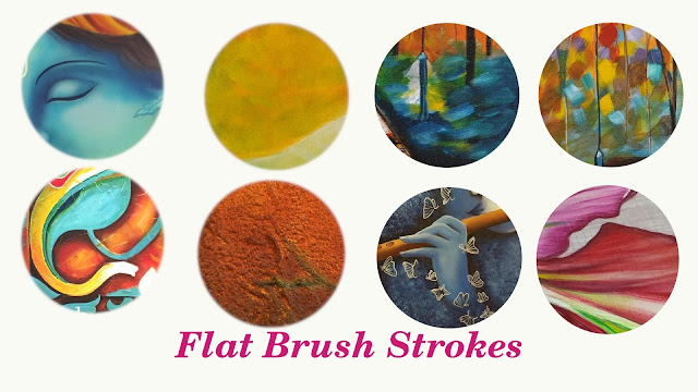 Painting with Flat Brush
