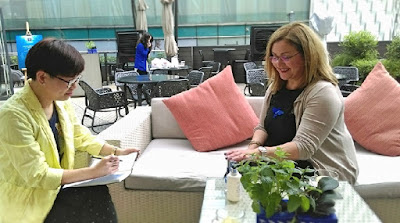 我和APIVITA 環球品牌培訓總監Evangelia Panou