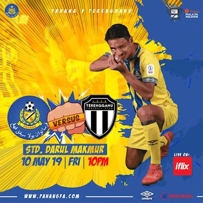 Live Streaming Pahang vs Terengganu 10.5.2019 (Piala Fa)
