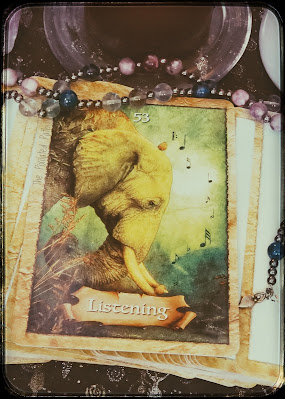 Listening Card from The Enchanted Map Oracle Deck