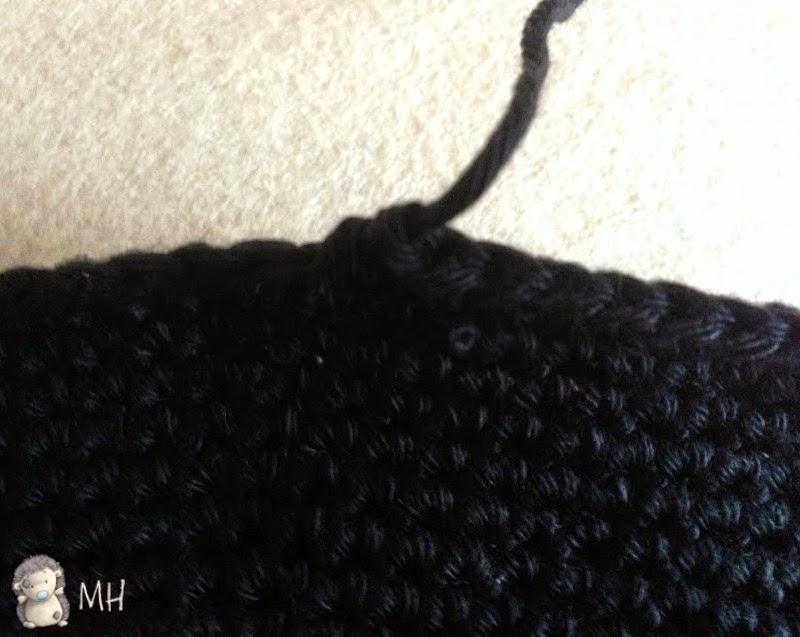 Cierre puntos crochet