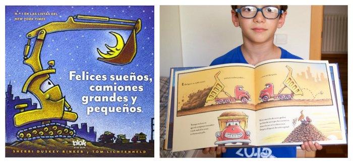 selección mejores cuentos infantiles ir a dormir, felices sueños camiones