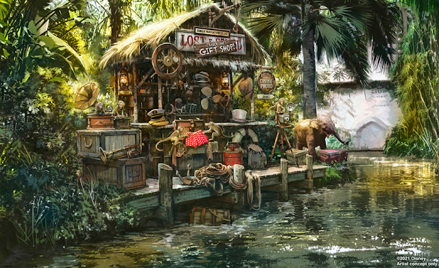 Disneyland, Magic Kingdom, Jungle Cruise 最新場景念設計圖, Trader Sam's Gift Shop