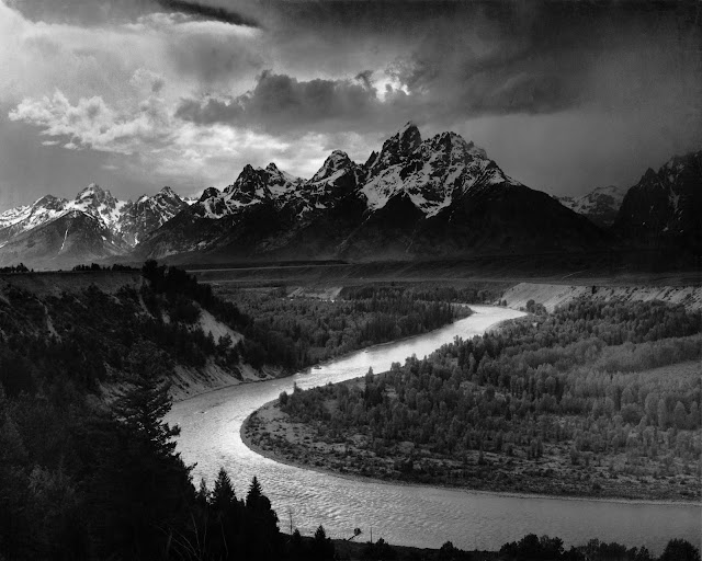Ansel Adams- The Grand Tetons and the Snake River, 1942.