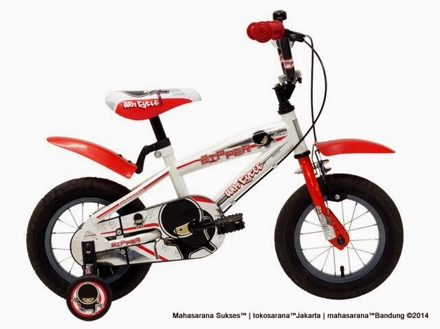 Sepeda Anak Wimcycle Zipper 12 Inci