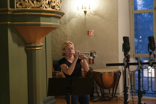 Tine Ting Helseth recording 'Magical Memories' in Oslo Cathedral