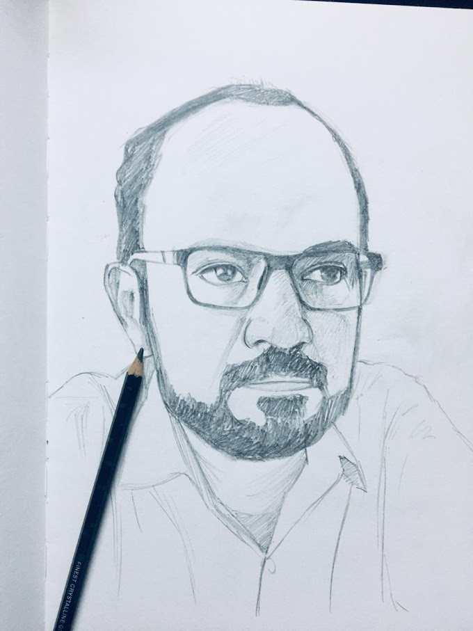 Portrait of Pramod ( my colleague) in 20 minutes