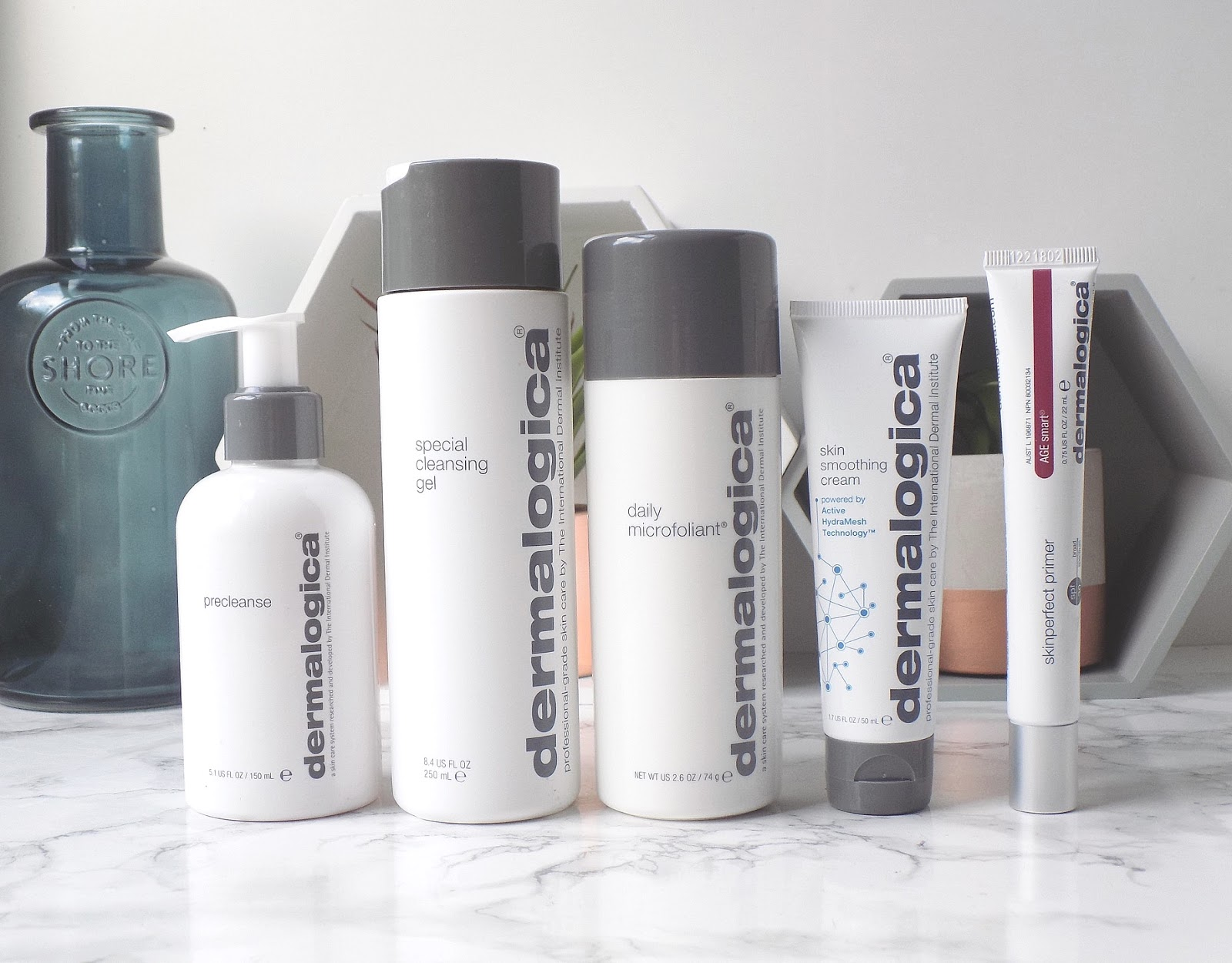 dermalogica pre cleanse microfoliant special cleansing gel skin smoothing cream skin perfect primer review