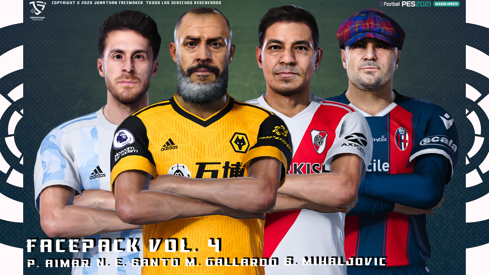 PES 2021 Facepack Vol. 4 by Jonathan Facemaker