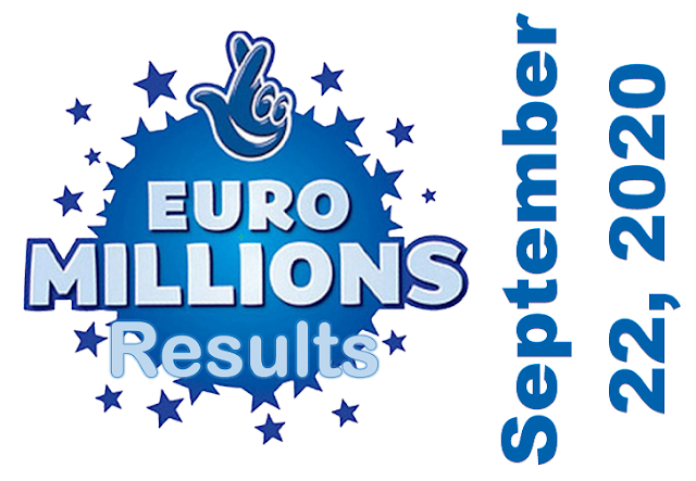 EuroMillions Results for Tuesday, September 22, 2020