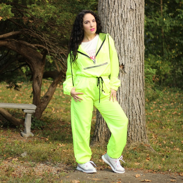 Shein Neon Green Track Suit