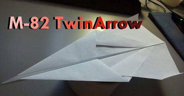 Avión de papel M-82 TwinArrow
