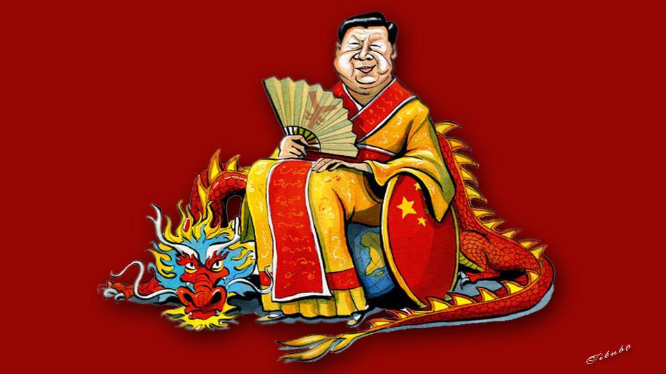 Image result for hoàng đế lợn Tập Cận Bình - Hí hoạ