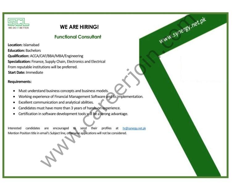 synergy.net.pk Jobs 2021 - Synergy Computers Pvt Ltd Jobs 2021 in Pakistan