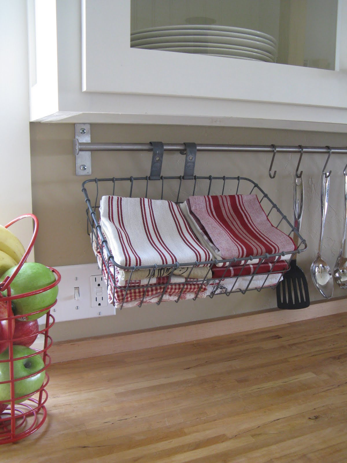 Farmhouse Hand Towel Holder Bicycle Basket