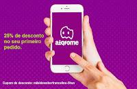 Cupom de desconto aiqfome app aplicativo pedir comida lanche restaurante aiqfome
