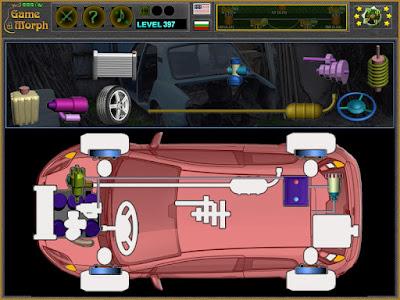 Simple automobile parts puzzle screenshot