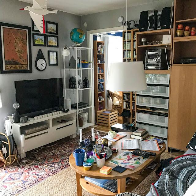 vardagsrum, stereo, golv, mattor