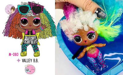 Valley B.B. collectible L.O.L. Surprise doll #Hairgoals wave 2