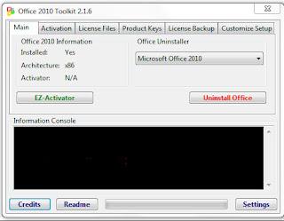 Cara mudah aktivasi microsoft office 2010 secara permanen