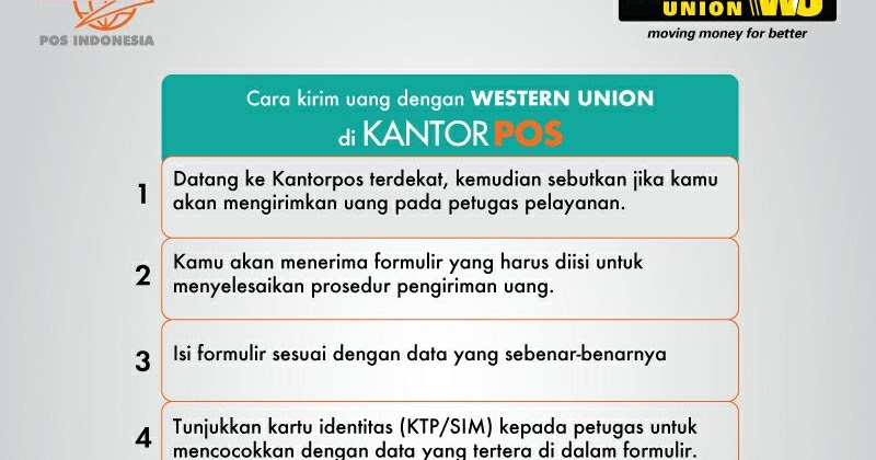 Cara Kirim Dan Terima Uang Luar Negeri Dengan Western Union Di Kantorpos Www Infokantorpos Com