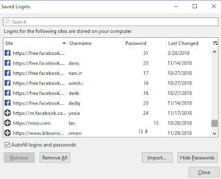 Show password Firefox