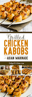 Grilled Chicken Kabobs with Asian Marinade found on KalynsKitchen.com