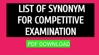 Download synonyms and antonyms pdf for all competition exams